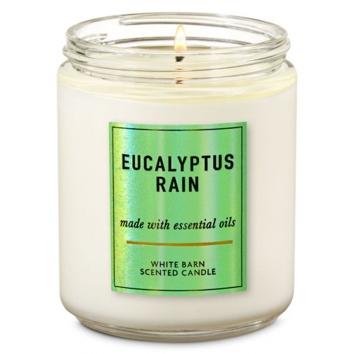 Bath & Body Works - Vela 1 Pavio - Eucalyptus Rain