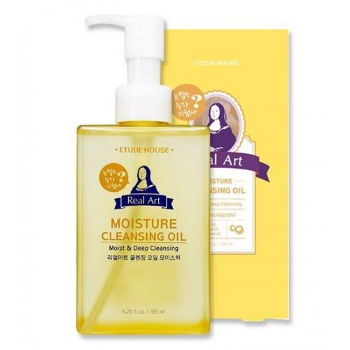 Etude House - Real Art Cleansing Oil Moisture Advanced - Demaquilante - 185mL