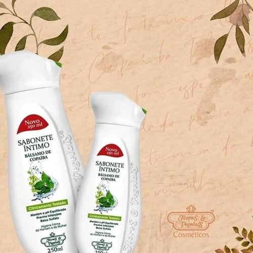 Flores & Vegetais - Sabonete Íntimo - Bálsamo de Copaíba e Ácido Lático - 250ml