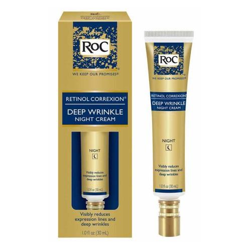 RoC Retinol Correxion creme noturno anti-envelhecimento para rugas profundas